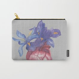 Heart with flowers Carry-All Pouch