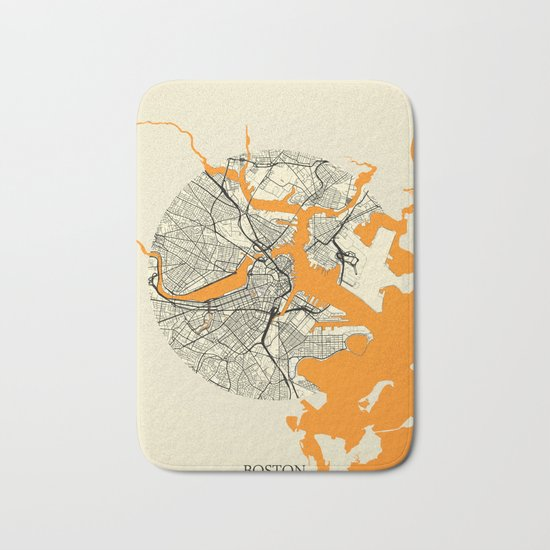 Boston Map Moon Bath Mat