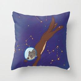 Take me to Otter Space Throw Pillow