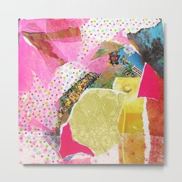 Pink Collage Metal Print