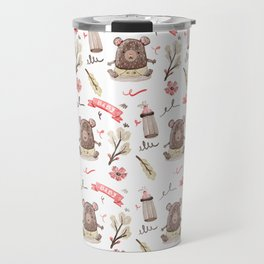 Cute Baby Pattern Bear Design. Travel Mug