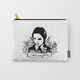 Wednesday Addams - I Hate Everything Carry-All Pouch