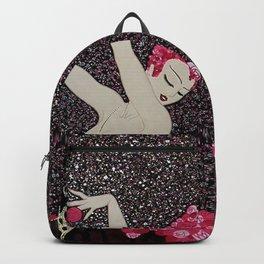 "Art Deco Design ""Dance of Roses"" Backpack"