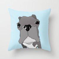 boston Throw Pillows featuring Boston by caseysplace