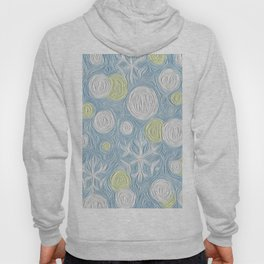 Christmas Time Frozen Snowballs and Snowflakes Art Work Hoody