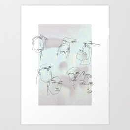 blurred faces Art Print