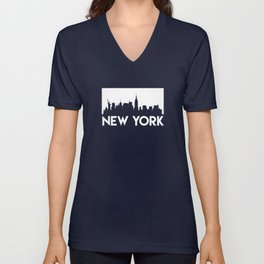 New York Skyline Unisex V-Neck