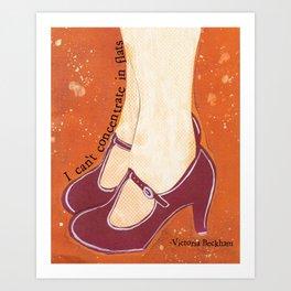 Purple Shoes Art Print