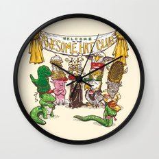 Awesome Hat Club Wall Clock