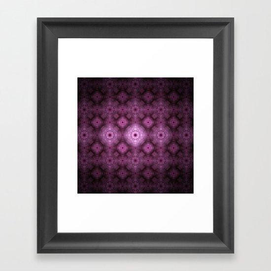 Pink Fractal Pattern Framed Art Print