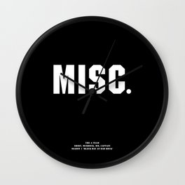 Howlin' Mad Murdock's 'MISC.' shirt Wall Clock