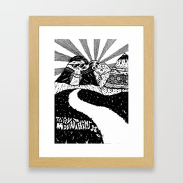 Trippy Mountains Framed Art Print