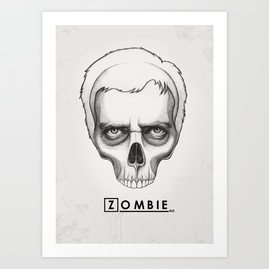 Gregory House Skull House MD Art Art Print