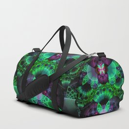 Emerald and Purple Spotted Swallowtail Butterflies Duffle Bag