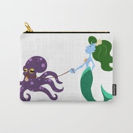 Mermaid and her Octopus Carry-All Pouch