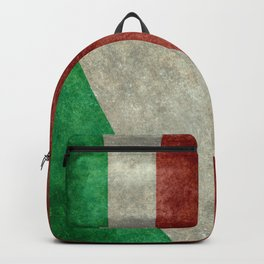 Flag of Italy, worn grungy style Backpack