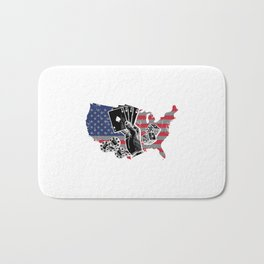American Poker Gamble art work Bath Mat