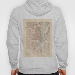 Vintage Map of Alexandria Virginia (1945) Hoody