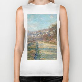 1880-Claude Monet-Road of La Roche-Guyon-60 x 73 Biker Tank