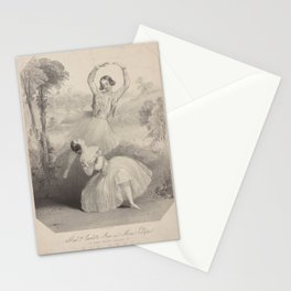 Grisi Carlotta  LyMadlle Carlotta Grisi  Monsr Petipa in the grand ballet of The periAdditional Peri Stationery Cards