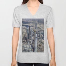 Dubai From The Air Unisex V-Neck
