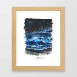 One Of These Days I'm Gonna Lay Down Framed Art Print