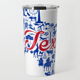 SMU Texas Landmark State - Red and Blue Southern Methodist University Theme Travel Mug