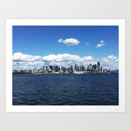 Seattle Skyline - #1 Art Print
