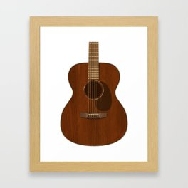 Acoustic Guitar Art Framed Art Print