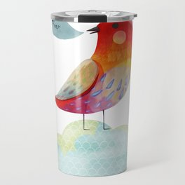 Red Bird Travel Mug