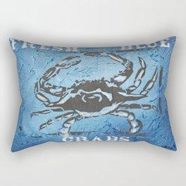 Fresh Blue Crabs Rectangular Pillow