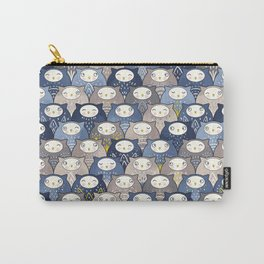 Find a cat in a parliament of owls (Art Deco Kawaii) Carry-All Pouch