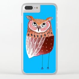 Eared Owl. Clear iPhone Case