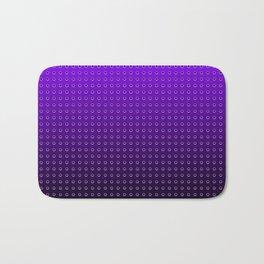 Gradient Circle Purple Bath Mat