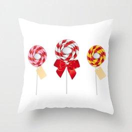 Lollipop collection Throw Pillow