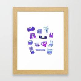Pocket machine - Violet - Framed Art Print