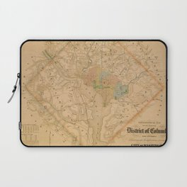 Civil War Washington D.C. Map Laptop Sleeve