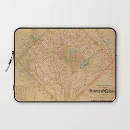 Civil War Washington D.C. Map Laptop Sleeve