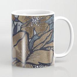Vintage Flowerscape - Blue Denim Coffee Mug