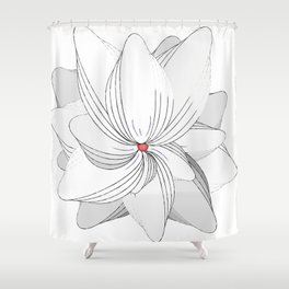 The Flower of my Heart Shower Curtain
