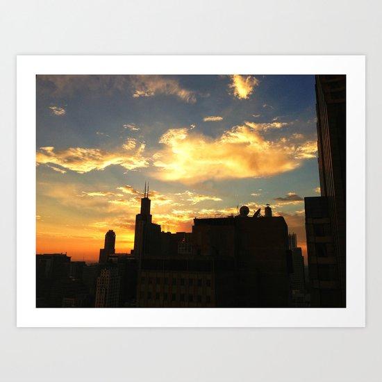 Sunset from the Aon Center Art Print