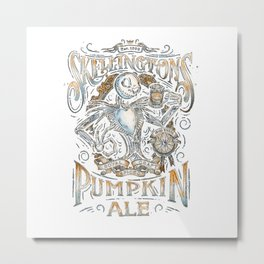 Skellingtons Pumkin Metal Print