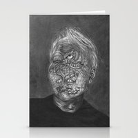 no face Stationery Cards featuring Face by hannoia