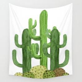 Desert Vacay Three Cacti Wall Tapestry