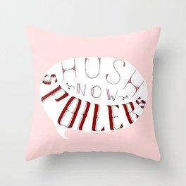 Hush Now. Throw Pillow