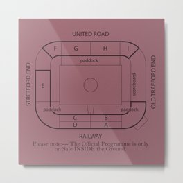 Old Trafford plan 69 Metal Print
