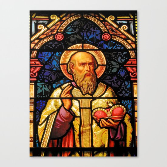 Saintly Glass #2 Canvas Print