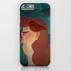 lady with bird iPhone 6s Slim Case