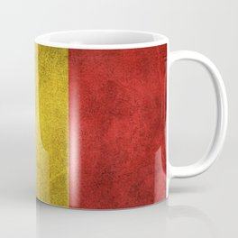 Old and Worn Distressed Vintage Flag of Belgium Coffee Mug