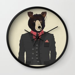 mr grizzly Wall Clock